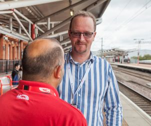 Railway Mission Chaplain Colin at Rugby